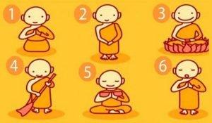 Test spirituale: Scegli un Monaco Buddista e Ricevi un Messaggio Potente